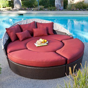 Rendezvous All Weather Wicker Sectional Daybed Chairs At