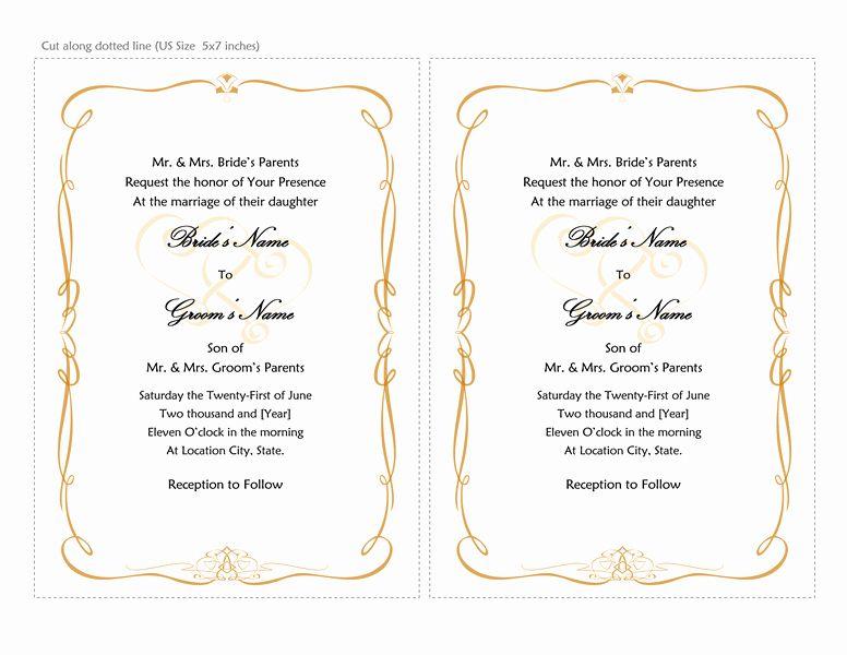 Word Wedding Invitation Template Elegant Microsoft W Free Wedding Invitation Templates Wedding Invitations Printable Templates Wedding Invitation Card Template - ms word wedding invitation templates