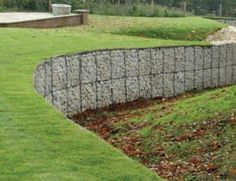 Gabions examples gabion retaining wall blocks simple low - Low cost landscaping ideas ...