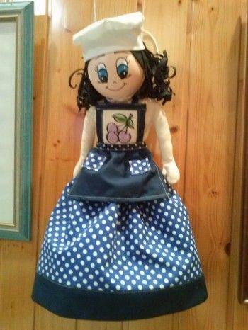 muñeca guardabolsas Muñecas Pinterest Muñecas, Patrón gratis y