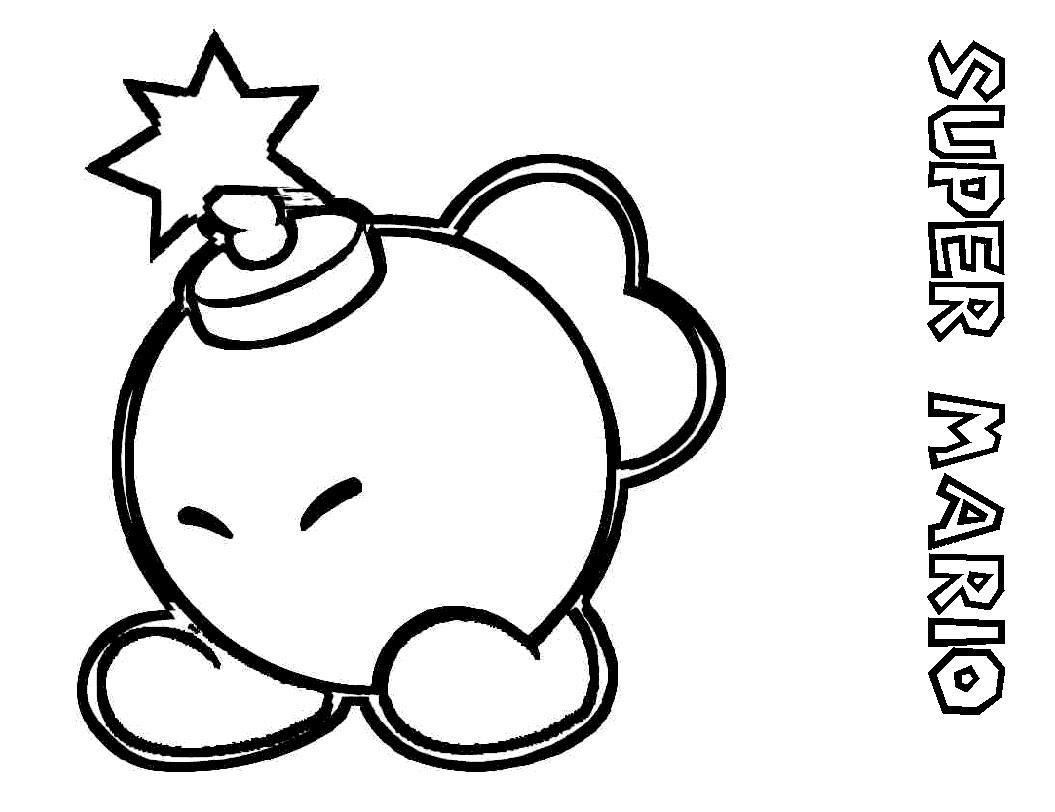 bob omb coloring picture for toddlers bob omb coloring
