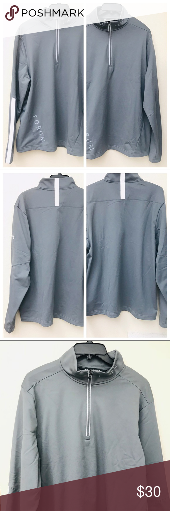 ajuste clásico nuevo alto venta caliente real Under Armour Forum Men Gray White Pullover Size L | White pullovers,  Pullover, Under armour