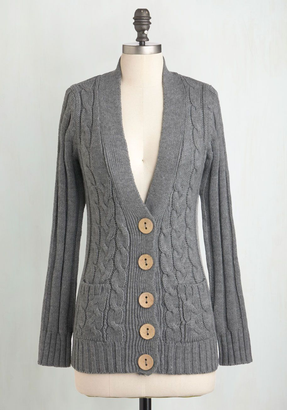 Your Fireside of the Story Cardigan in Charcoal. Quietly sitting ...