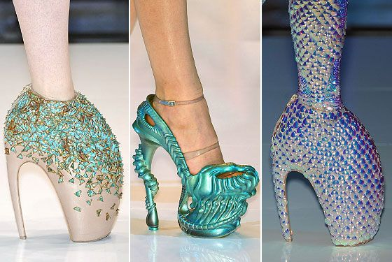 The Shoes At Alexander Mcqueen Were Only Ten Inches High Crazy High Heels Lady Gaga Shoes Alexander Mcqueen Shoes