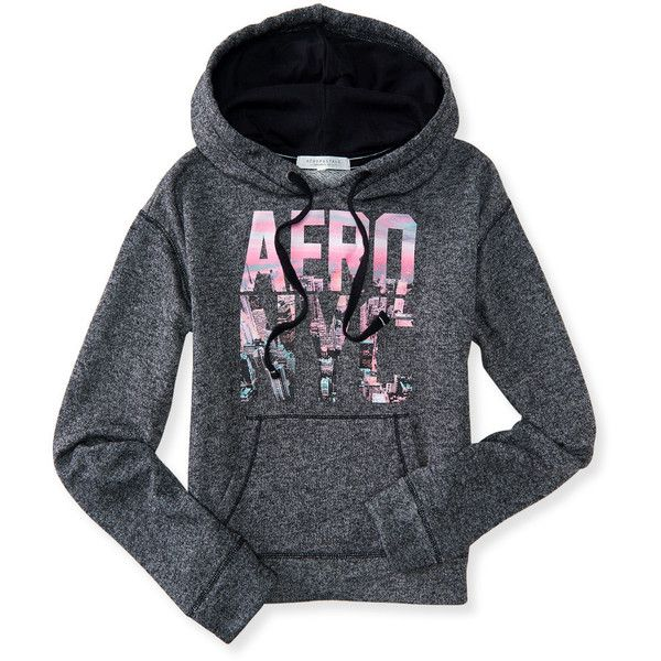 Aero NYC Pullover Hoodie ($20) ❤ liked on Polyvore featuring tops ...