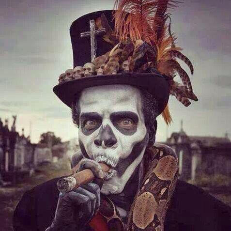 """Papa Legba is a spirit often found in Caribbean religions. He is a """"gatekeeper"""". He is called first in religious ceremonies because he is in charge of communication between the spirit world and the human world. His depiction varies depending on location, but his role is usually very similar. He has been compared to St. Peter, because he is in charge of entrance into the other world. Downright scary!"""