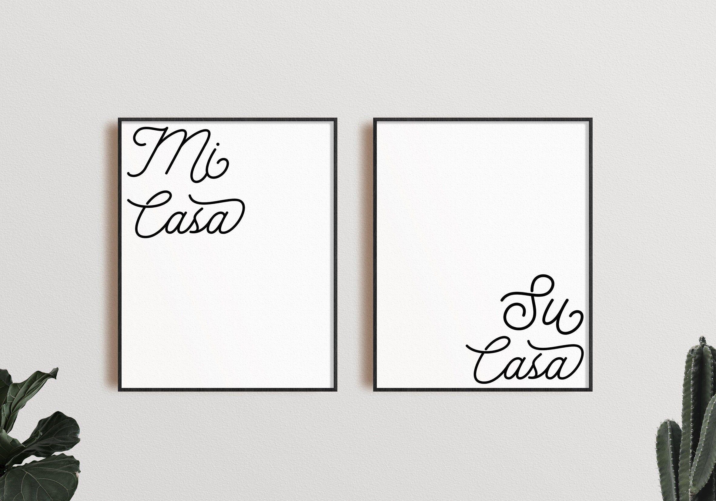 Mi Casa Su Casa Set Printable Wall Art Instant Download Etsy In 2020 Wall Printables Wall Art Instant Download Printable Wall Art