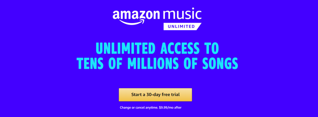 Try Amazon Music Unlimited Free Trial With Images Music Most