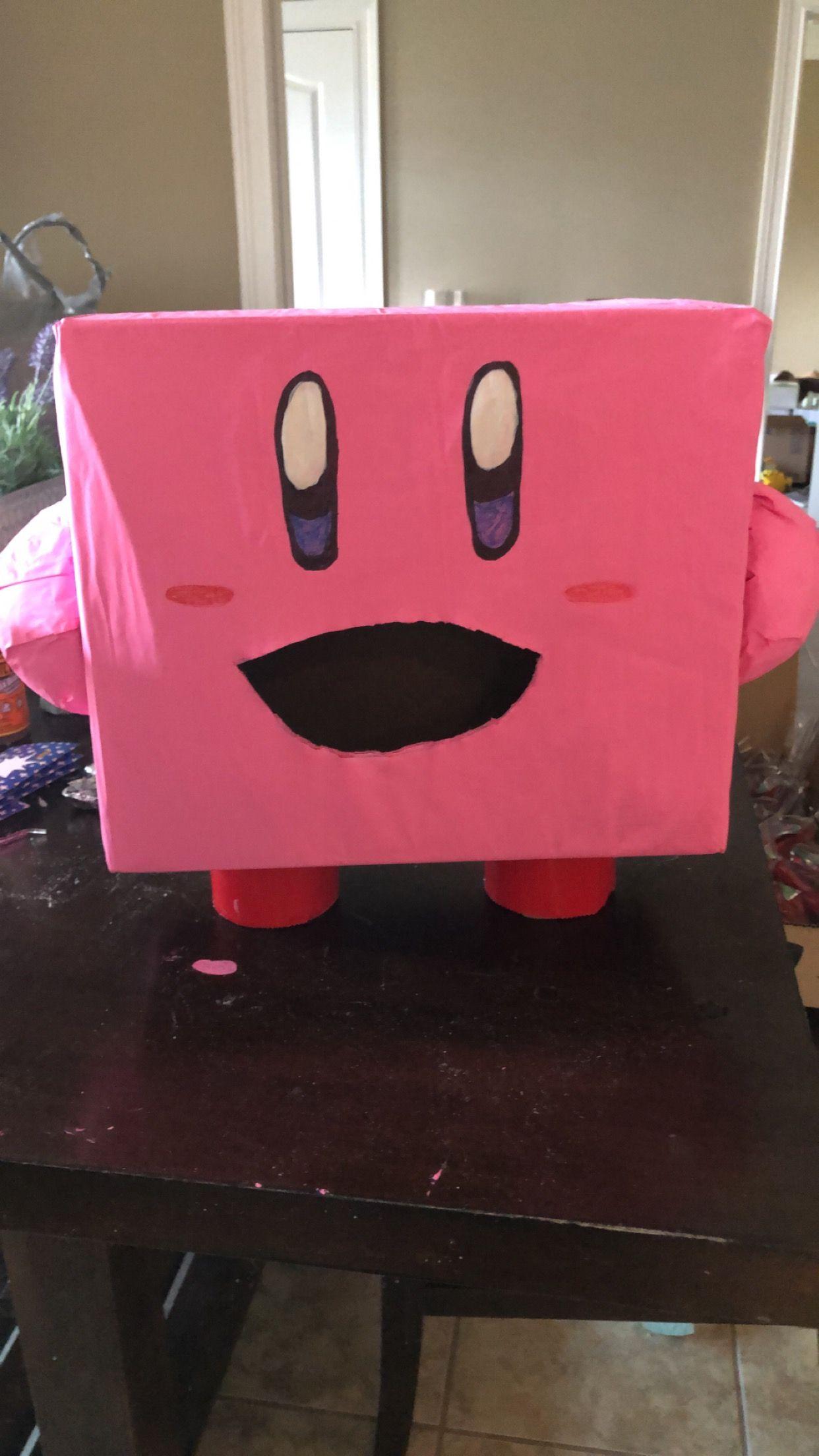 Kirby Valentines Day Box Valentine Day Boxes Valentine Box Crafts