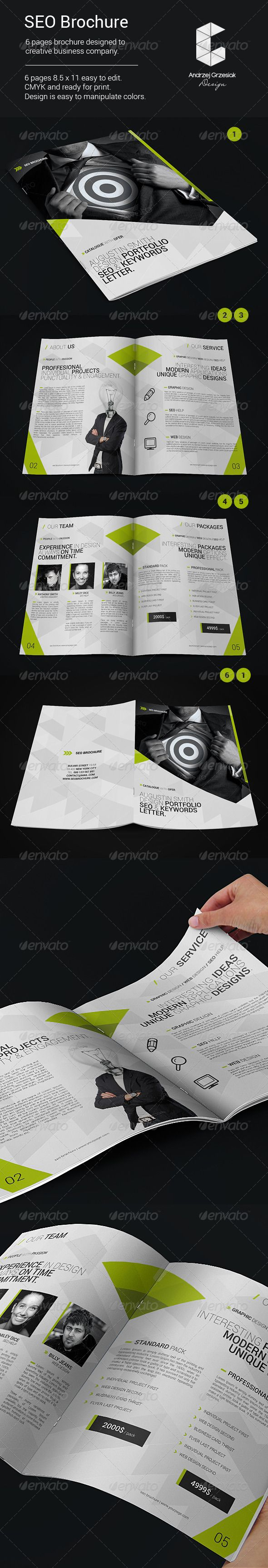 seo brochure graphicriver 6 pages brochure designed to creative