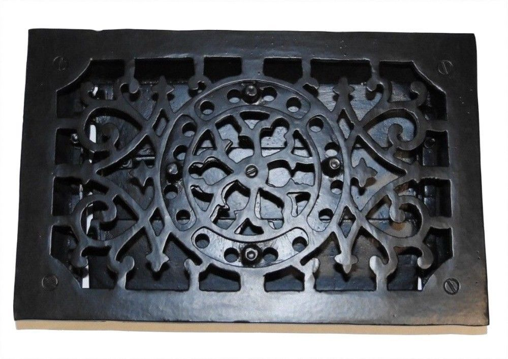RECTANGULAR Cast Iron Floor Register Heat Grate antique