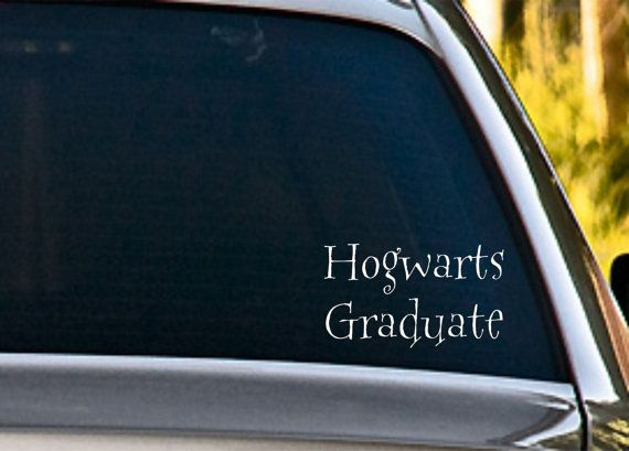 Hogwarts graduate vinyl car decal etsy