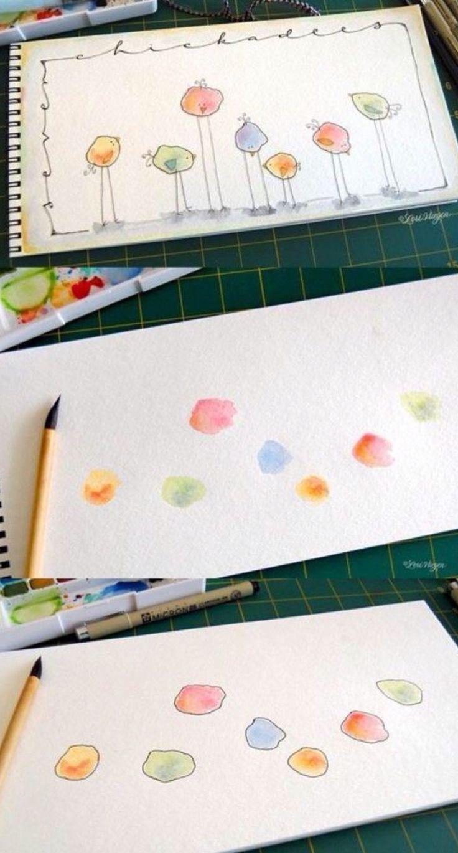Creatief met verf en fineliner. - #Creatief #en #fineliner #met #verf #zeichne