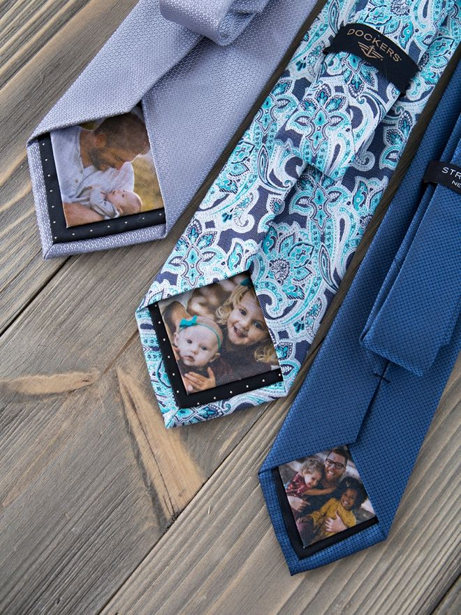 You HAVE To See These DIY Photo Tie Patches, SO Sweet! #gifts