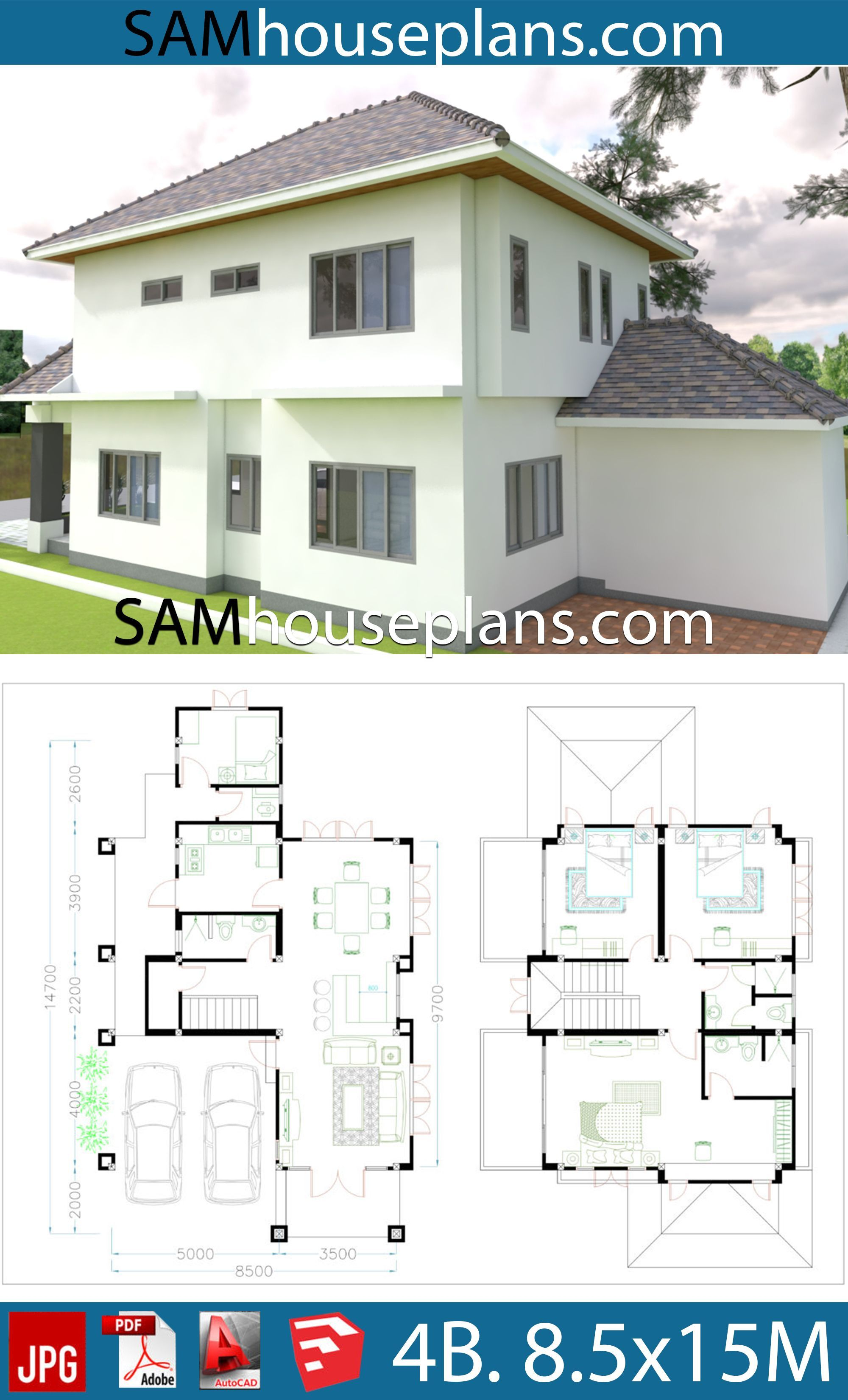 Autocad House Plans Free Download 2020 House Plans Bedroom House Plans 4 Bedroom House Plans