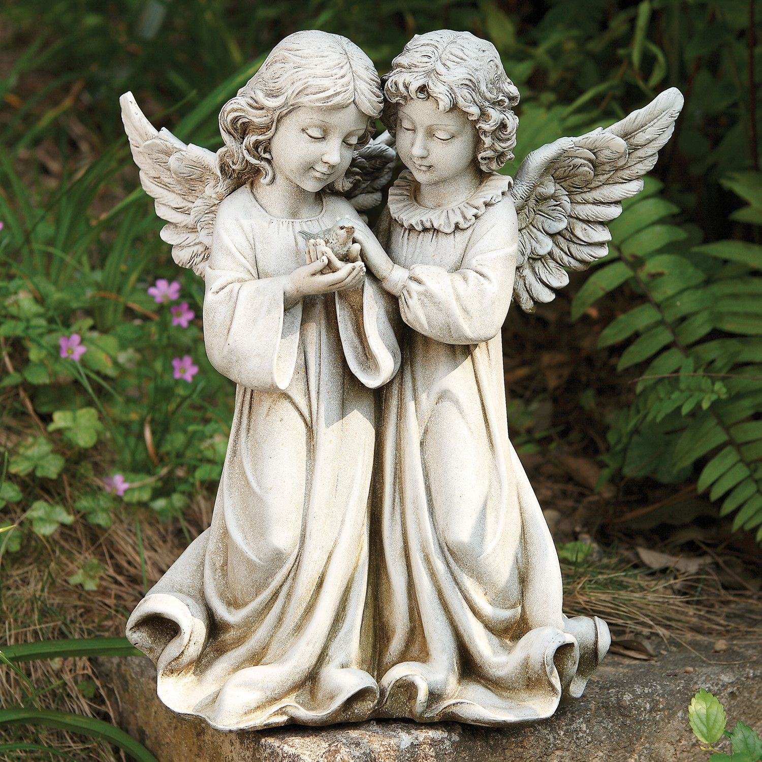 angel yard your outdoor inch art figurines large christmas celtic kissing angels everyone garden statue cherub baby duck cherubs donkey praying prayer kneeling figure lawn statues