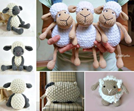 Bobble Stitch Knitted Sheep Pillow Pattern
