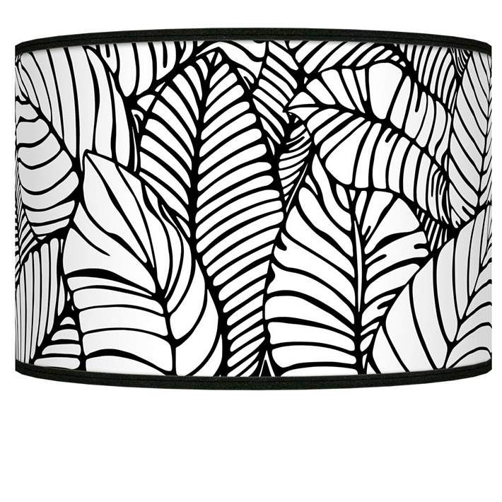 Tropical leaves giclee shade 12x12x85 spider style j8517 8d544 explore black lamp shades black lamps and more mozeypictures Gallery