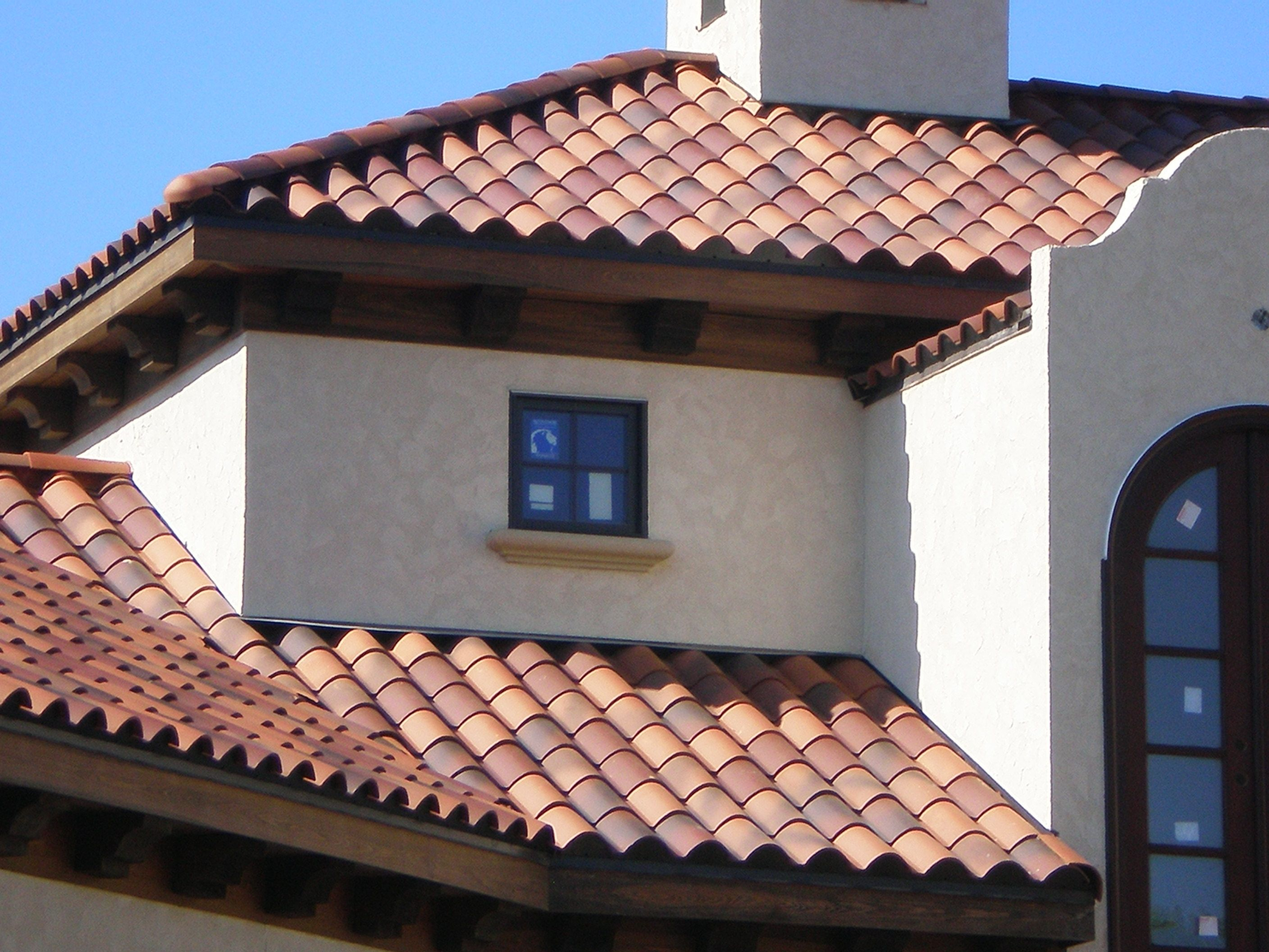 Santafe clay spanish s tile custom blend spanish s for Clay tile roofs