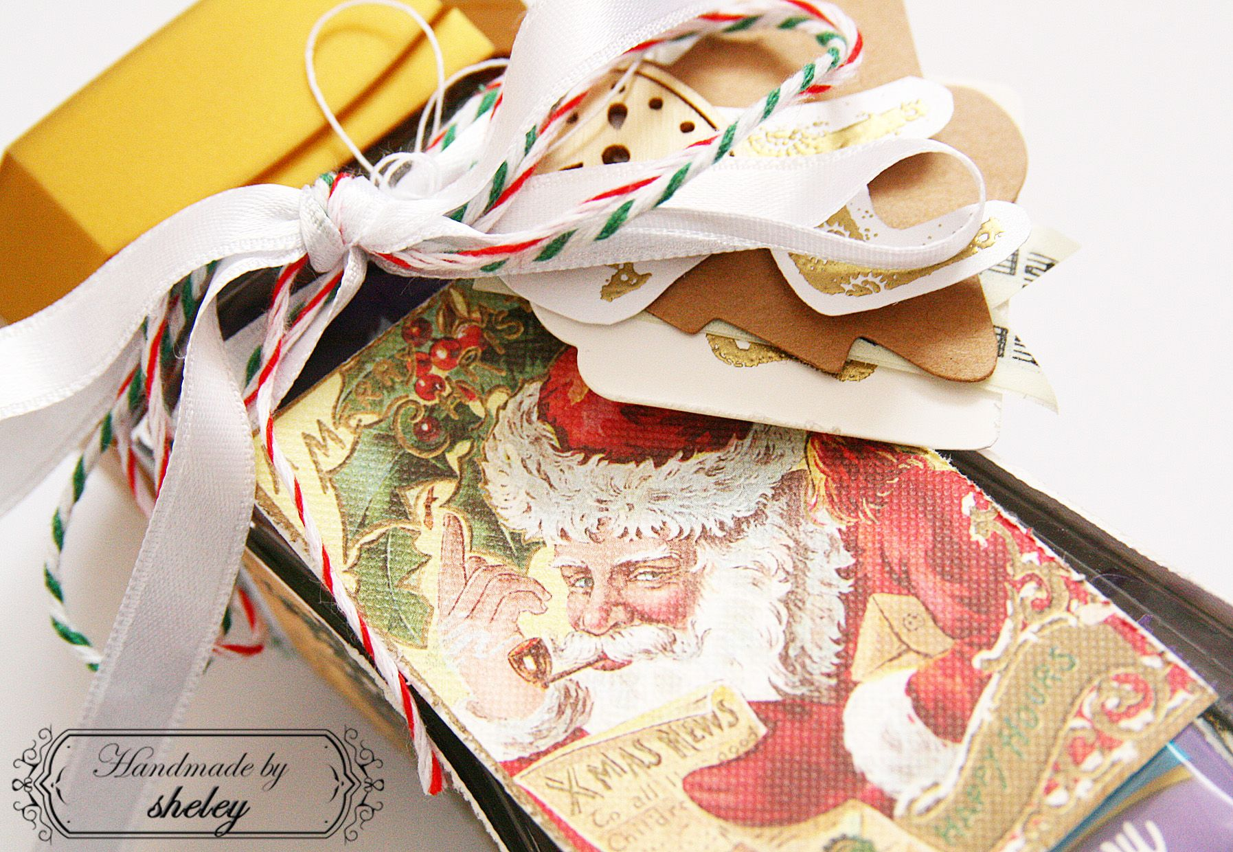 Christmas packaging. My blog full of my scrapbook projects