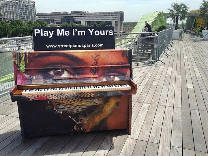 Artists Beautify Outdoor Pianos Around the World to Bring