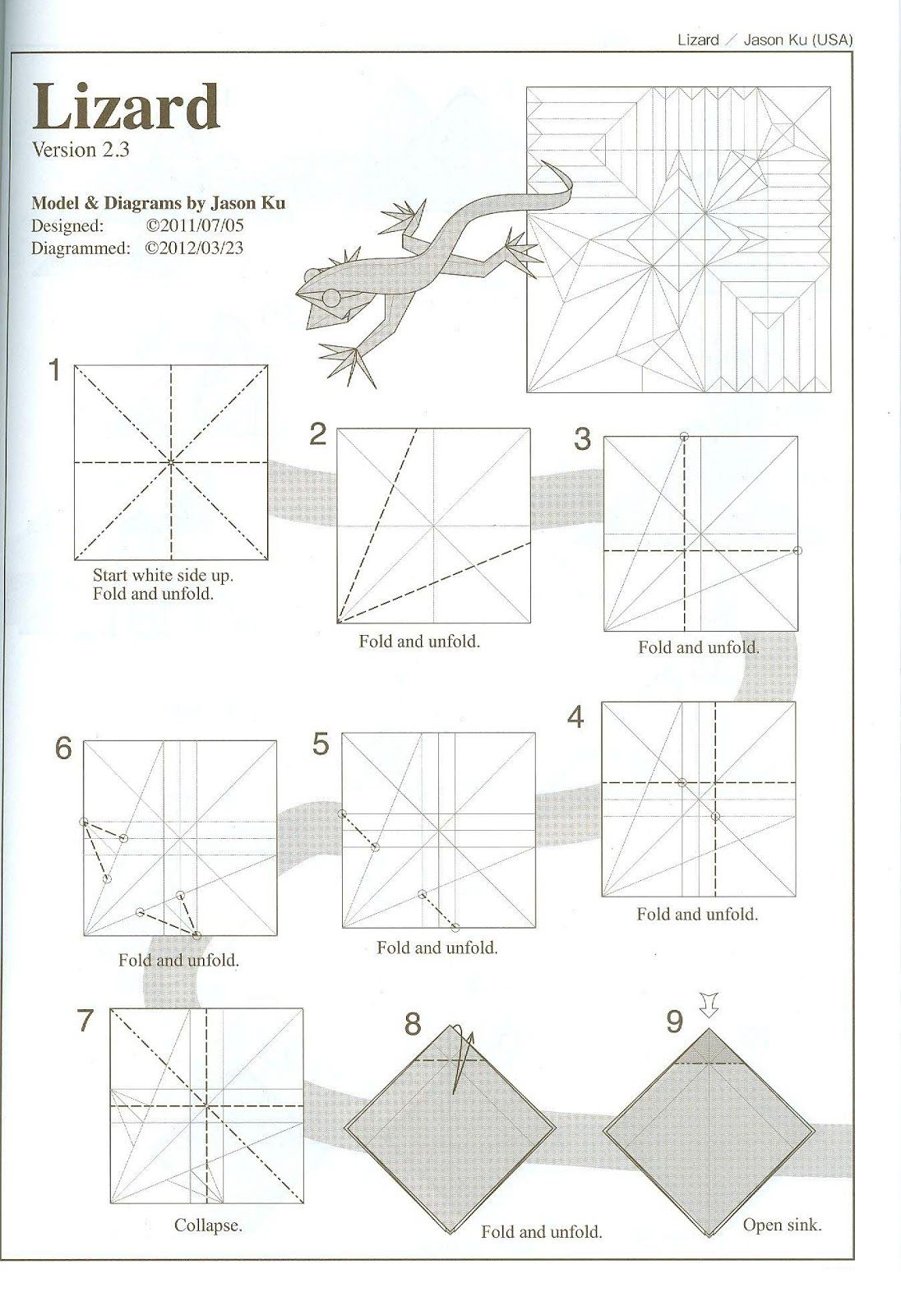 Pin By 家豪 許 On Origami Useful Origami Origami Lizard