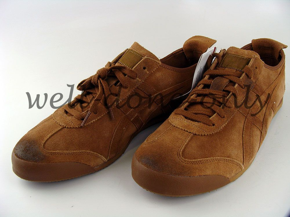 d3d0ed62f2 Asics Onitsuka Tiger Mexico 66 brown camel mens vtg leather retro shoes  sneakers
