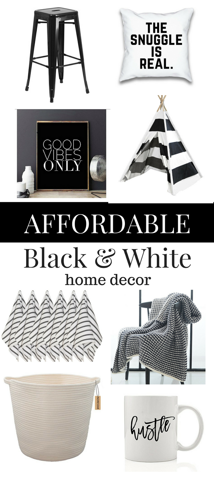 22 Black And White Home Decor Pieces You Ll Love White Home Decor Black Decor Black And White Pillows