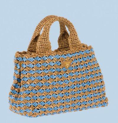 Prada Has A New Line Of Raffia Crochet Bags