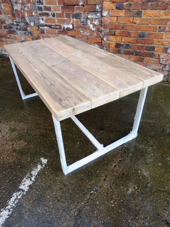 Reclaimed Industrial Chic 6 8 Seater Dining Table White Bar Etsy 8 Seater Dining Table Dining Table Restaurant Furniture