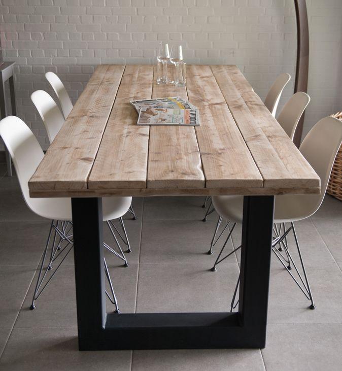 Nieuw bij victoria een steigerhouten tafelblad in for Steigerhouten eettafel maken
