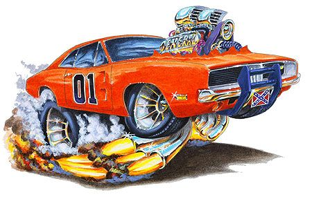 Pin By Chris Potratz On General Lee Cool Car Drawings Car Cartoon Art Cars