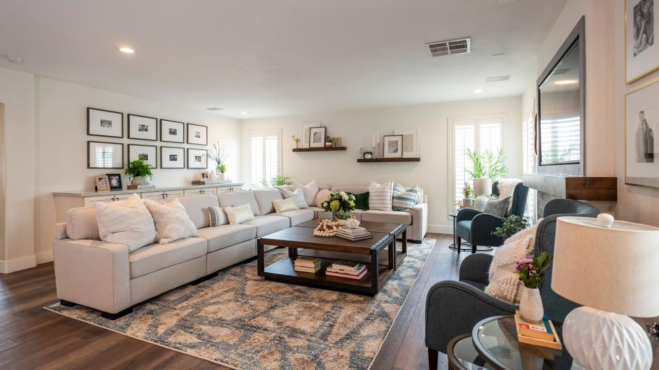 Property Brothers Living Room Renovation Property Brothers Designs Sunken Living Room Dream Living Rooms #property #brothers #living #room #ideas