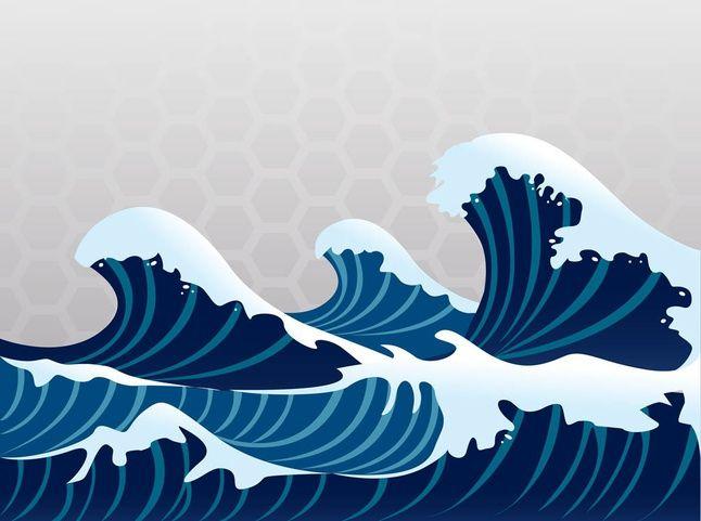 Asian waves 3 | Home | Pinterest | Nursery wall murals, Nurseries ...