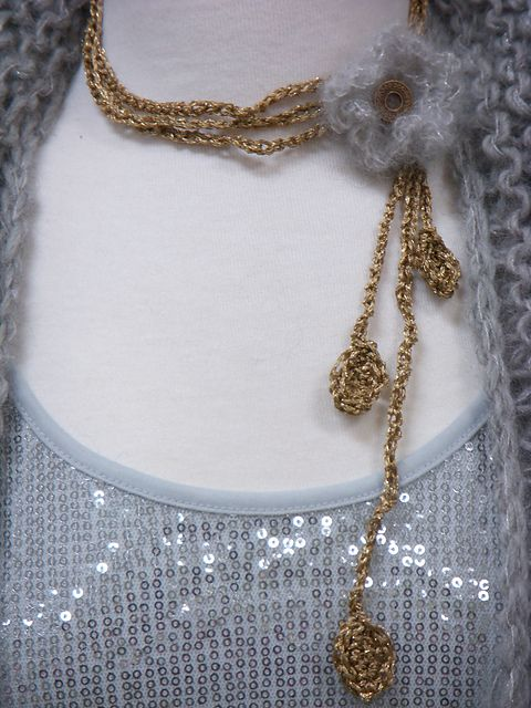 Ravelry Project Gallery For The White Flower Necklace Pattern By