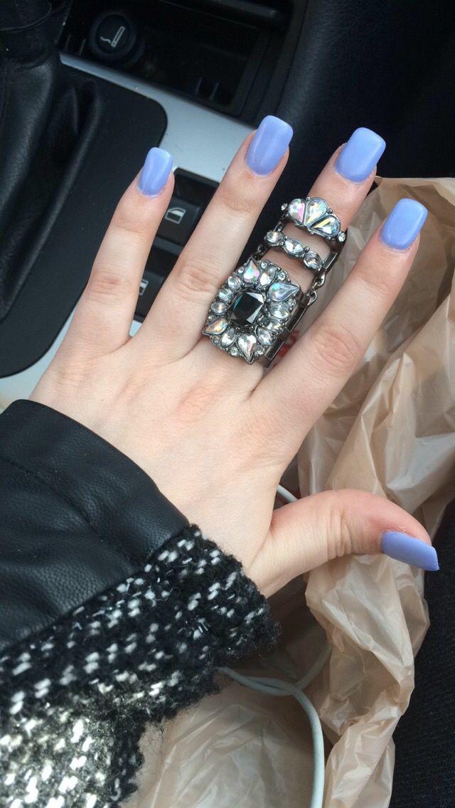 Matte periwinkle nails! #nails #acrylics #periwinkle ...