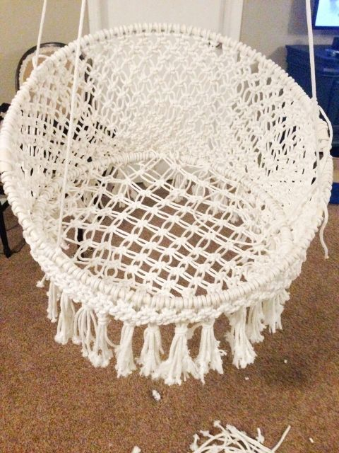 Diy Hanging Macram Chair Craft Crafty And Crochet