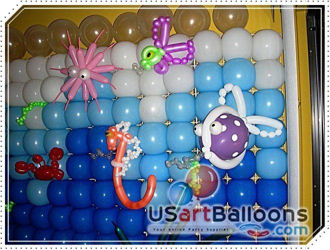 Beach Theme Party Decorating Ideas Part - 30: Beach Theme Party Decorating Idea With Balloons