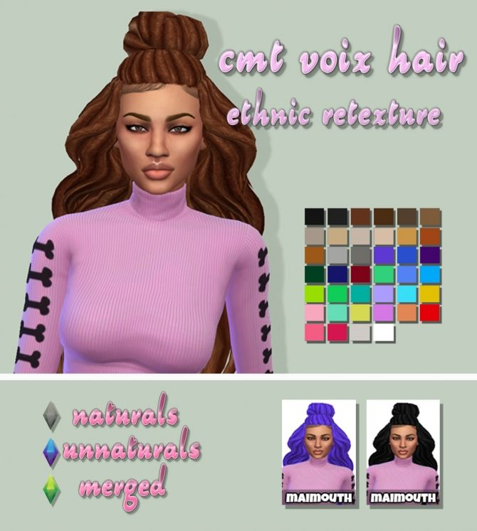 Fantastic Voix Hair Ethnic Retexture At Maimouth Sims4 Via Sims 4 Updates Short Hairstyles For Black Women Fulllsitofus