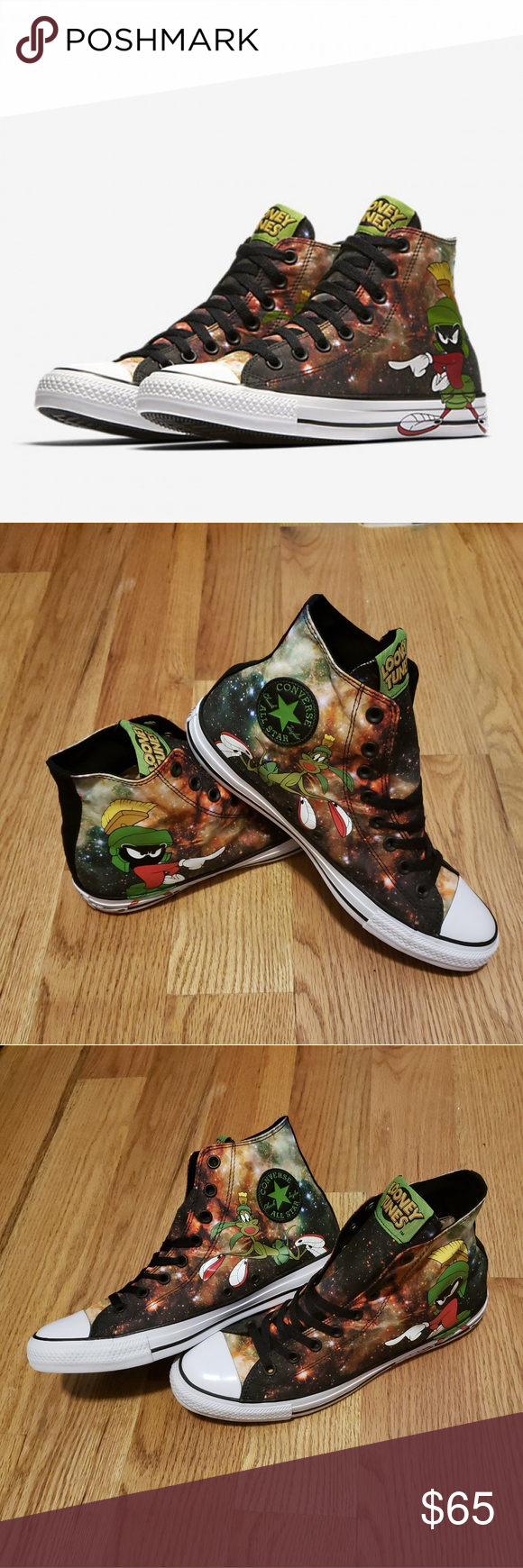 152345c8932 Converse CTAS Marvin the Martian Converse Chuck Taylor All Star Hi Looney  Tunes Marvin The Martian Sneaker 100% Authentic New Without Box Size 10 Mens  12 ...