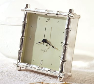 Silver Plated Bamboo Clock #potterybarn My Favorite! Amazing Ideas