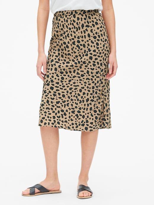 a15b5cb7f8f5 Print Midi Skirt in 2019 | Products | Midi skirt, Skirts, Leopard ...