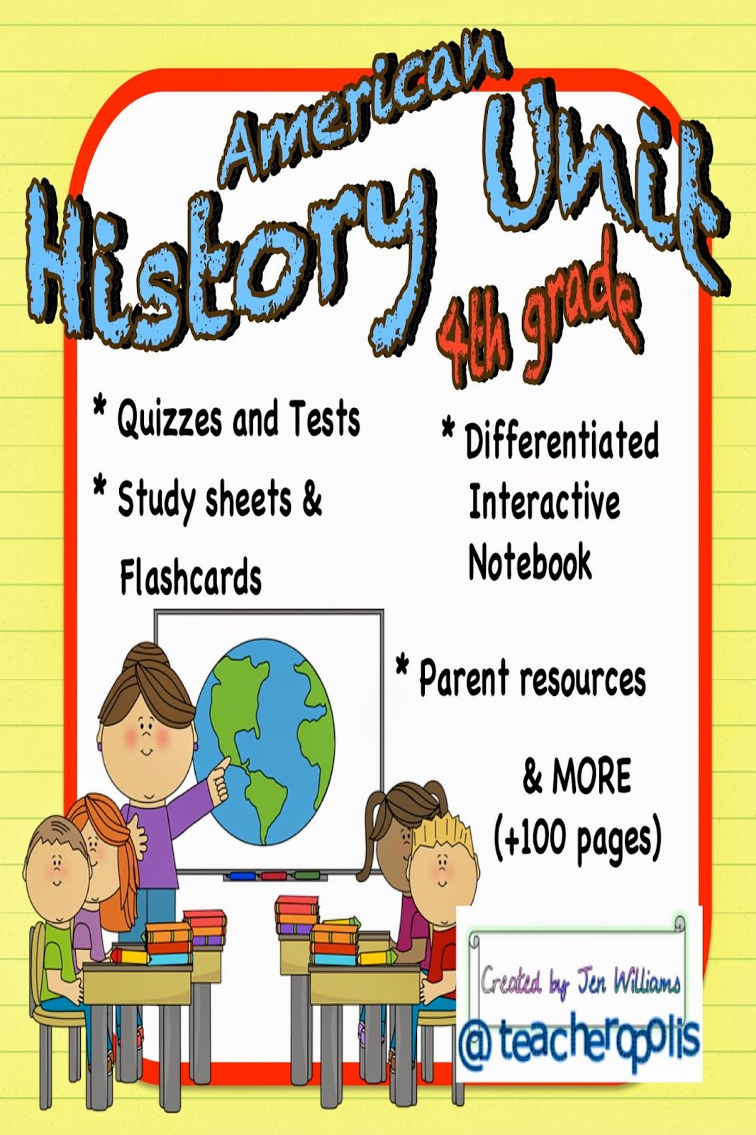 4th Grade American History Unit With Differentiation