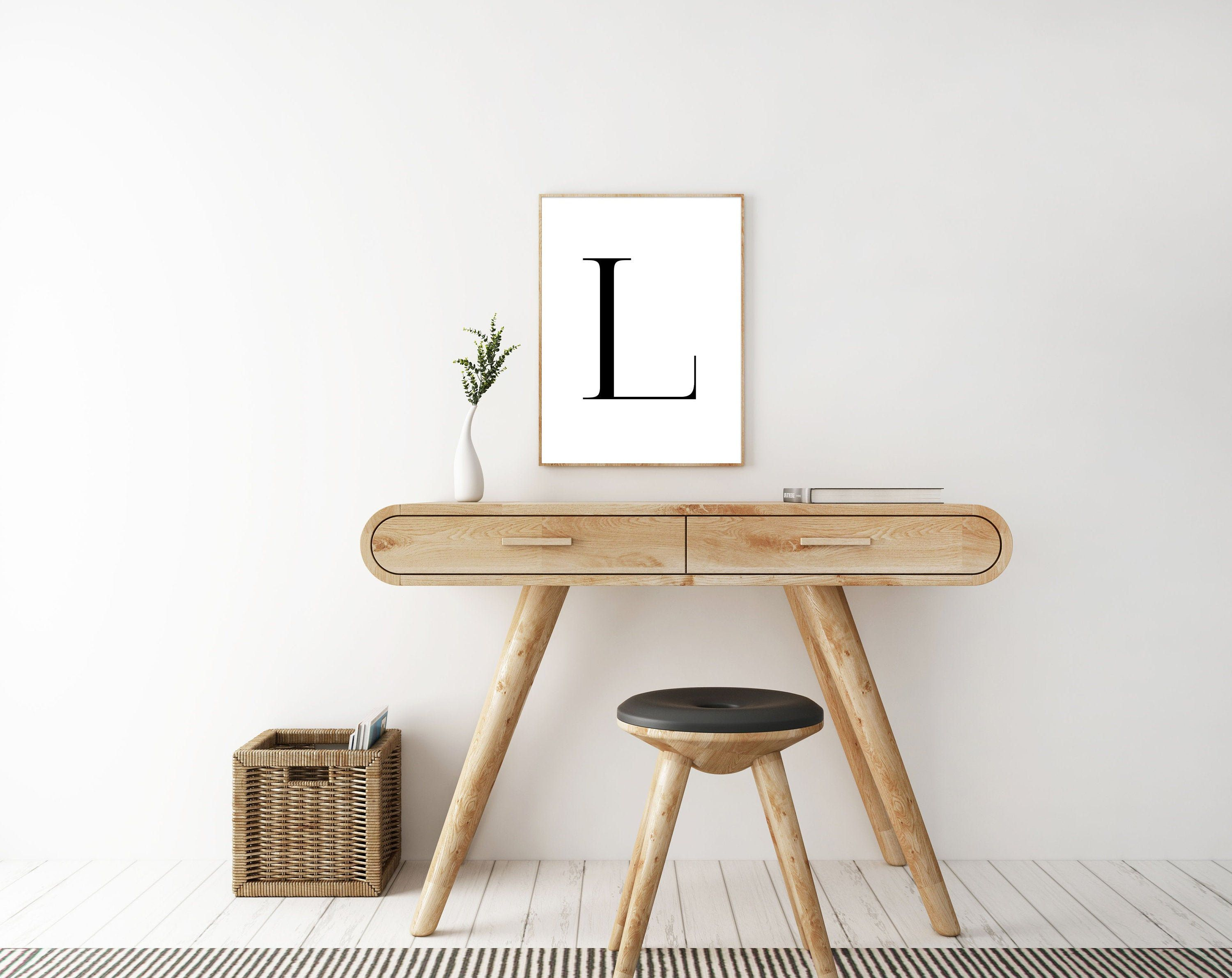 Letter L Wall Art Letter L Typography Sign Bedroom Wall Etsy In 2020 Letter Wall Art Typography Wall Art Typography Printable