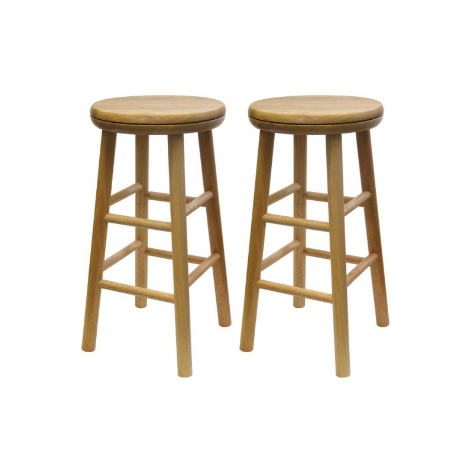 Winsome 24 In Swivel Beech Counter Stools Set Of 2 Bar Stools