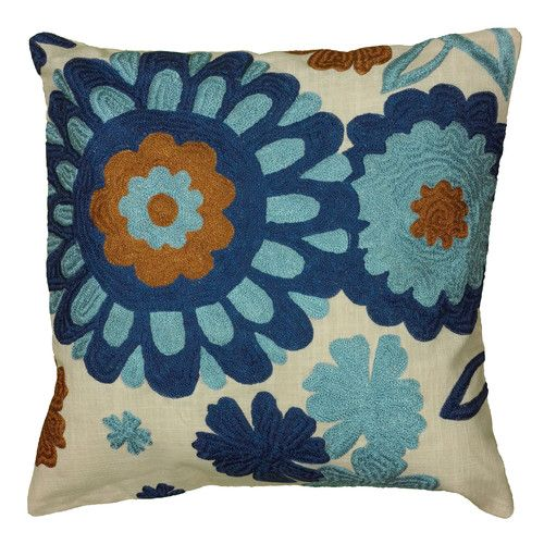 Found It At Wayfair Daffy Pillow Cover Floral Throw Pillows Blue Throw Pillows Throw Pillows