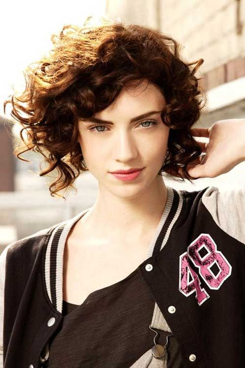 Superb 1000 Images About Curly Hairstyles On Pinterest Short Curly Hairstyles For Women Draintrainus