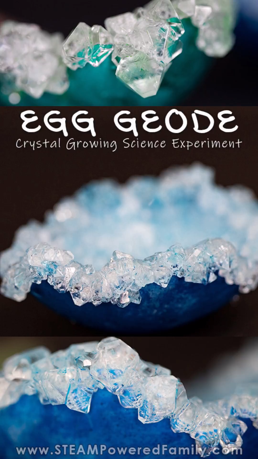 Growing Crystals To Create An Egg Geode Science Experiment