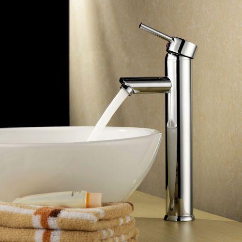 Modern Chrome Brass Waterfall Bathroom Basin Faucet Single Handle