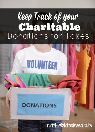 Keep Track Of Your Charitable Donations For Taxes With Images